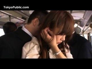 Hand job japanese train yube